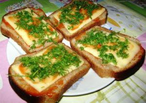 Бутерброды с сыром - рецепт