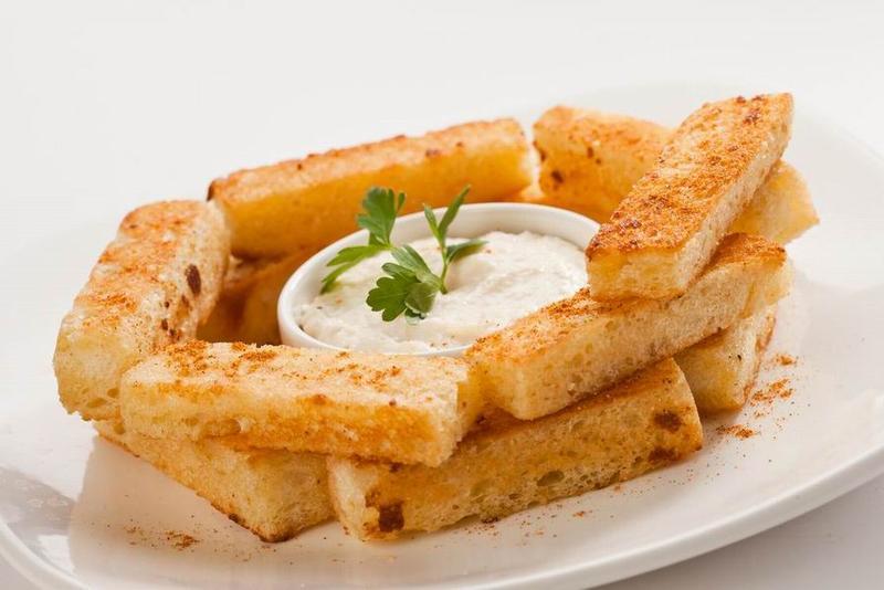 Гренки с чесноком - рецепты приготовления
