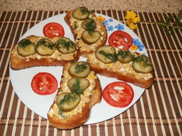 бутерброды с печенью трески рецепты