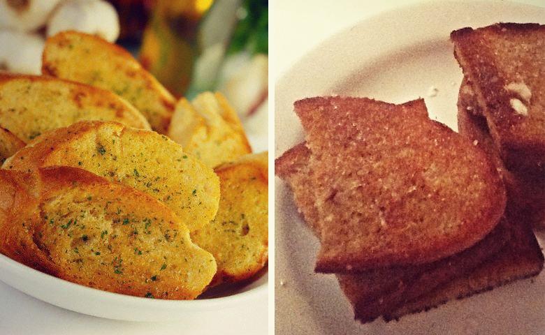 гренки из черного хлеба с чесноком