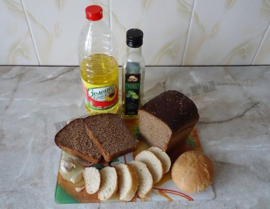 гренки с чесноком - ингредиенты