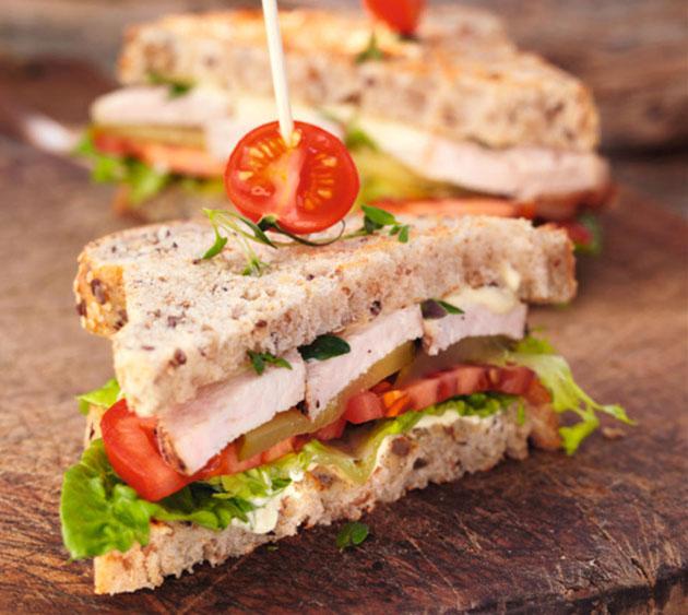вкусный сэндвич
