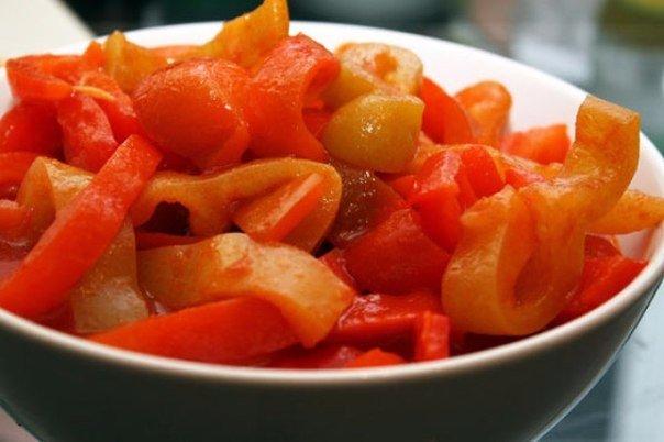 лечо из перца и томатной пасты