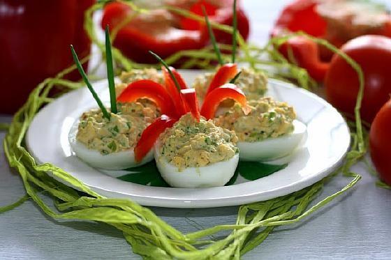 фаршированные яйца рецепты