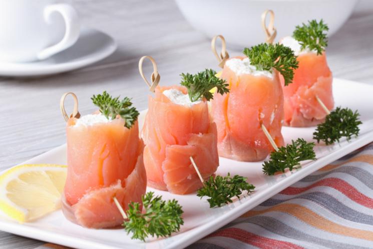 закуски с красной рыбой