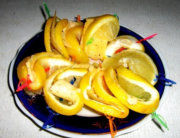 закуска из лимонов