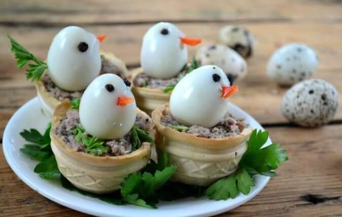 закуска из перепелиных яиц