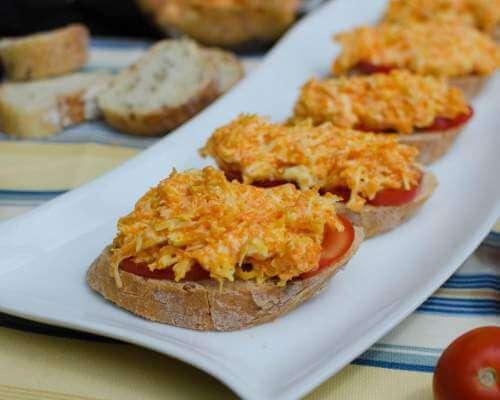 закуска из плавленного сыра