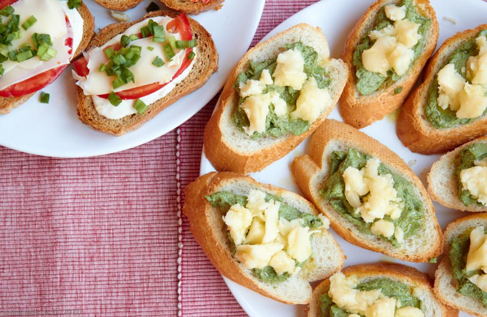 закуски на хлебе