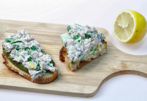 бутерброды с зеленью
