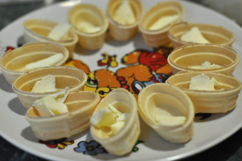 вафельные тарталетки