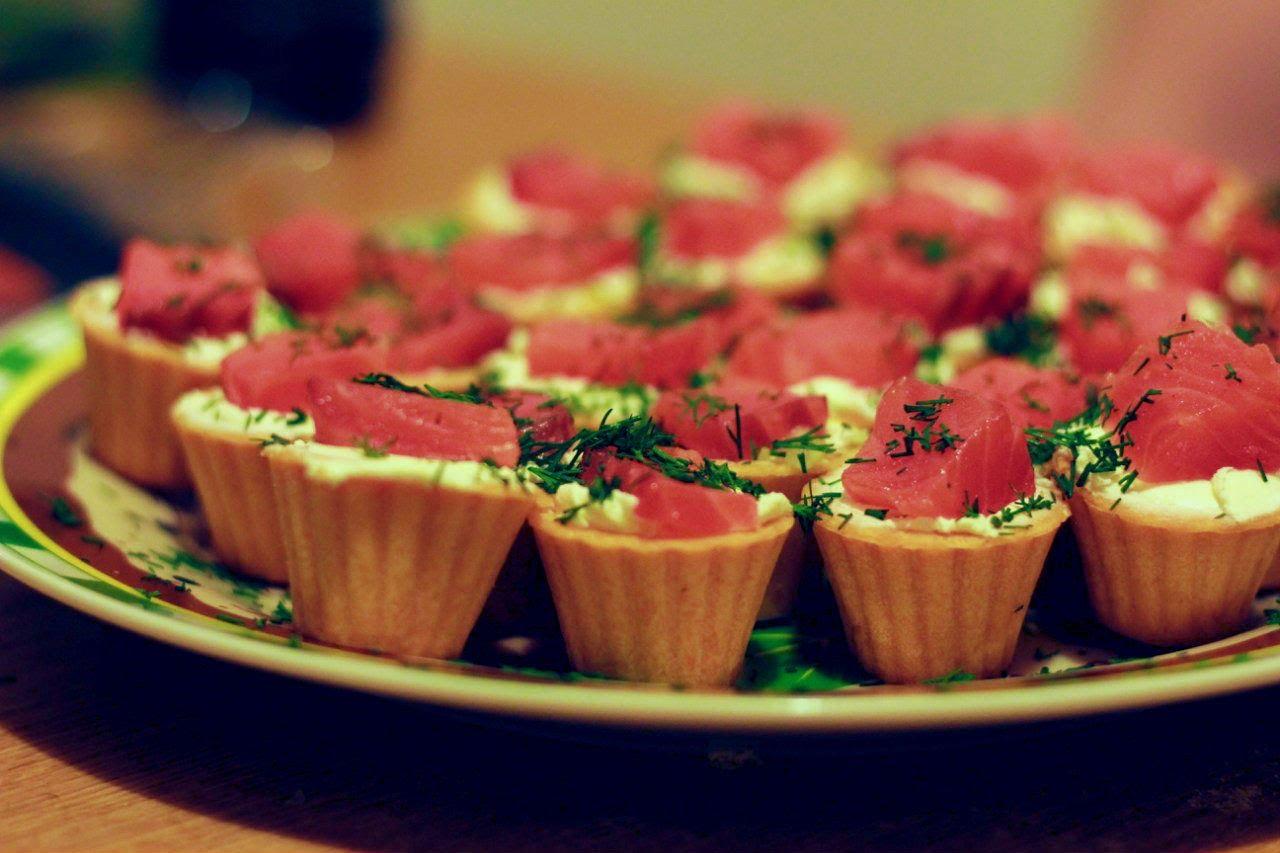 тарталетки с зеленью