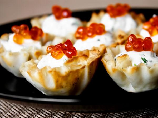 тарталетки с сливочным сыром