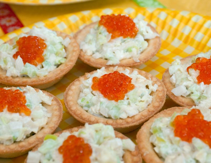 тарталетки с творожным сыром