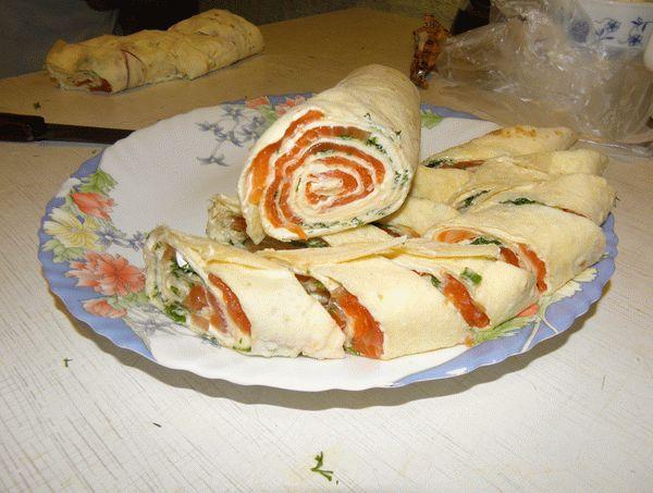 рулеты из лаваша с творожным сыром